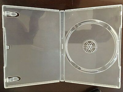 100 14Mm New Single Super Clear Dvd Cases With Sleeve Psd23