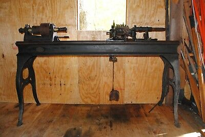 """Complete Wilder [Waymoth-type] """"variety"""" lathe with cutters - vintage"""