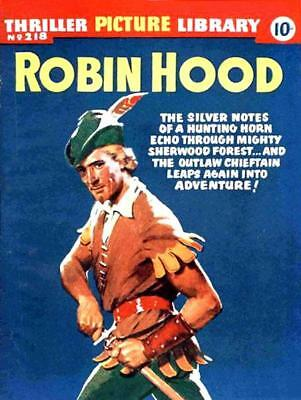 THRILLER PICTURE LIBRARY No.218 ROBIN HOOD -  Facsimile Comic