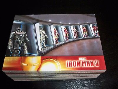 2013 UD Iron Man 3 Movie Complete Base Set of 60 Cards