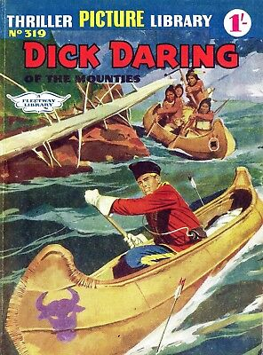 THRILLER PICTURE LIBRARY No.319 DICK DARING -  Facsimile Comic