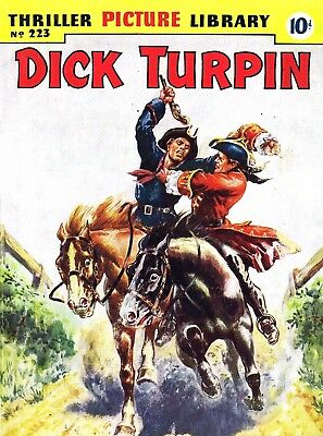 THRILLER PICTURE LIBRARY No.223 DICK TURPIN -  Facsimile Comic