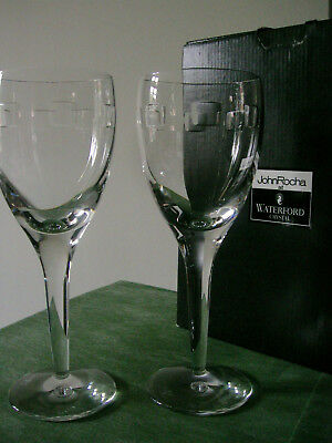 John Rocha Waterford Crystal White wine Glasses 3 PAIRS