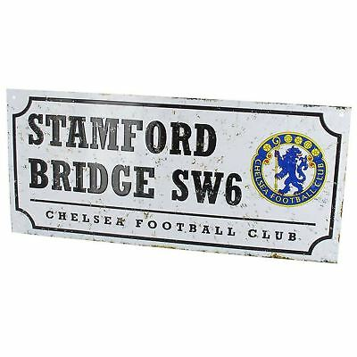 Chelsea Fc Retro Football Metal Street Sign New