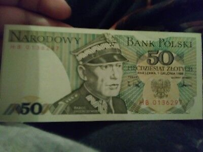 Polski Bank Note 50 Zlotych Crisp Uncirculated