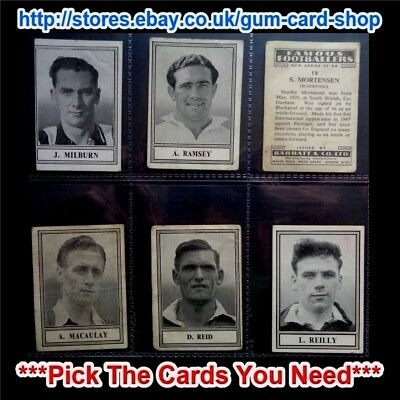 Barratt & Co - Famous Footballers  New Series C.1950 (G/F) *Please Select*
