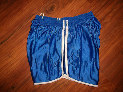 vintage france Nylon Shorts oldschool Streifen gym Sport glanz shiny pants 80 S