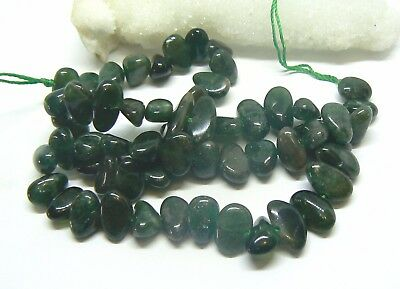 RARE NATURAL GREEN RUSSIAN CHROME DIOPSIDE NUGGET BEADS 9-15mm 215cts