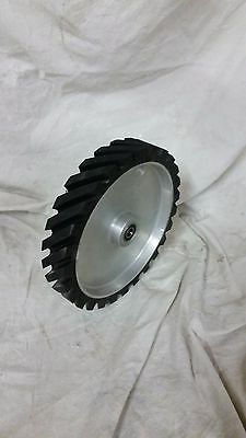 "8"" serrated Contact wheel for 2x72 belt grinder sander, Dynamically balanced"