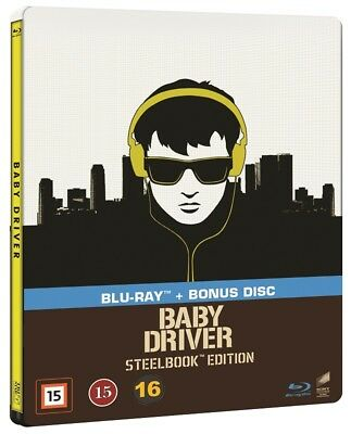 Baby Driver Limited Edition Steelbook Blu Ray