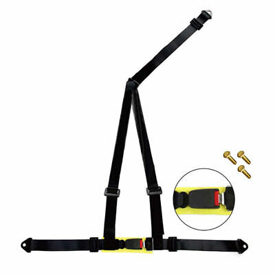 Noryb 3 Point Black Fully Adjustable Racing Universal Harness Seat Belt Car 4x4