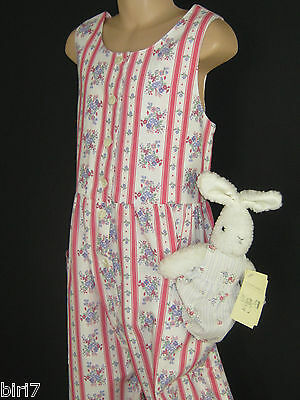 Laura Ashley Vintage Girls Spring Bouquet Stripe Dungarees / Playsuit, 7-8 Yrs