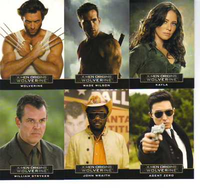 2009 X-Men Origins Wolverine Lot of 16 Insert Cards Casting Call Archives Confro