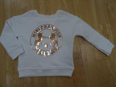 RIVER ISLAND mini baby girls cream unicorn sweatshirt jumper AGE 18-24 MONTHS