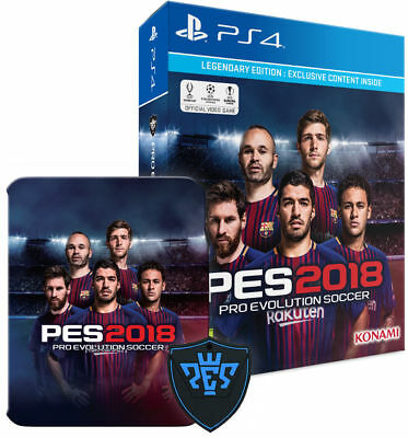 Pes 2018 Legendary Steelbook Edition Ps4 - Pro Evolution Soccer 2019 Italiano