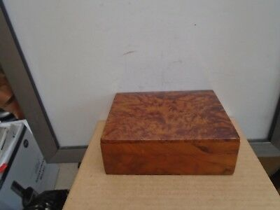 vintage wooden trinket/watch box possibly burr walnut unusual clearance find box