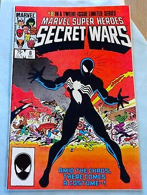 Marvel Super Heroes Secret Wars #8 1st BLACK COSTUME Key NM High Grade