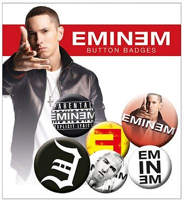 Eminem Logo Recovery New Official Badge Pack (4x 25mm & 2x 32mm) One Size