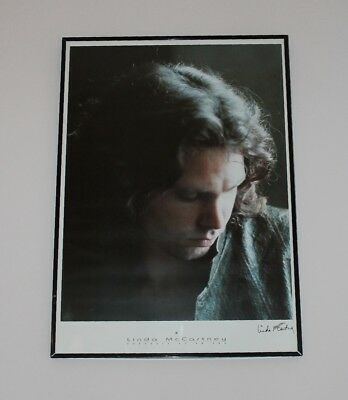 "Linda McCartney Foto-Poster gerahmt ""Jim Morrison / the doors"" - rar + selten!"