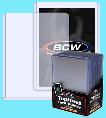 50 BCW 59pt 1.5MM THICK TOPLOADER Trading Card Holder Sport Topload Rigid Jersey