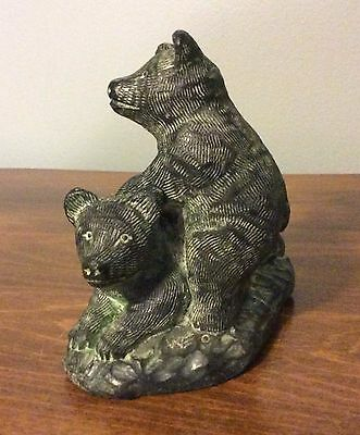 Playing Bears Figurine - A WOLF ORIGINAL - The Wolf Sculptures - Canada