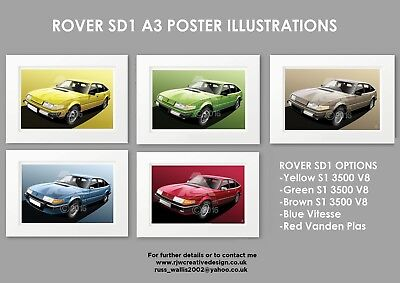 ROVER SD1 A3 Poster Print, Choose a from a range of models