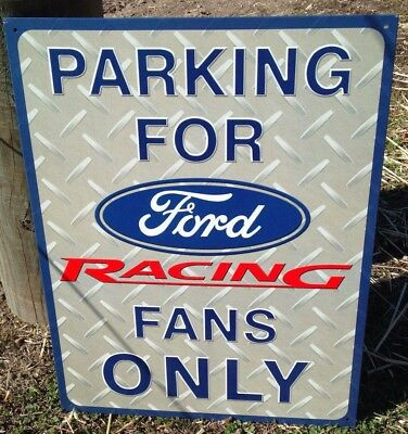 Parking FORD Only Metal Sign Racing NASCAR Auto Truck Fan Made USA Gift NEW