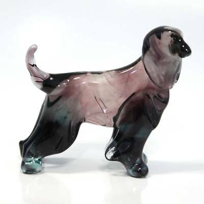 Middle blown glass figurine Dog - Afghan Hound Russian Murano. Handmade #36-2