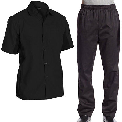 Chef Code Bundle Pack, Cool Breeze Cook Shirt and Elastic Waist Chef Pants