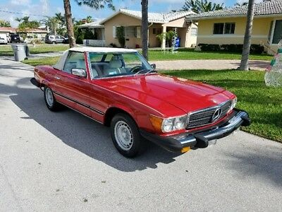 1980 Mercedes-Benz SL-Class 450SL 1980 450SL Signal Red Over Special Order Factory White Interior !