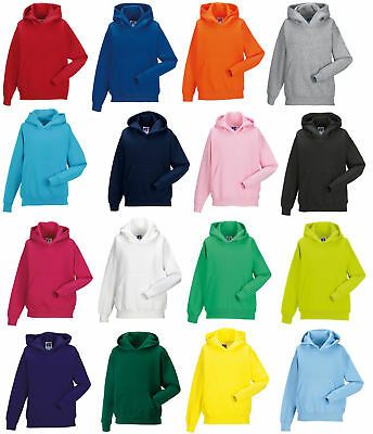 Children's Hooded Sweatshirt Plain Kids Hoodie Jumper School Uniform Girls Boys