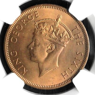 1948 Seychelles, British Colony, 5 Cents, Ngc Ms-65 Rd