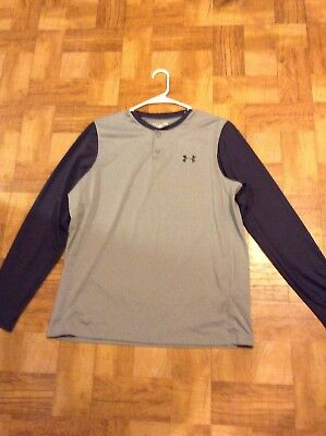 Mens Under Armour Coldgear Long-Sleeved Shirt Sized Large