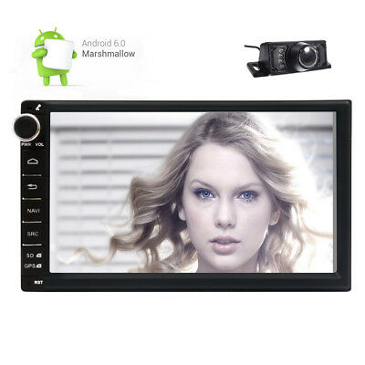 Quad Core Android 6.0 4G Double 2DIN Car NO-DVD Player Radio Stereo GPS Navi+CAM