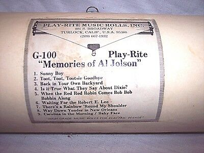 G-100  Automatic Music Roll Coin Op Electric Player Piano, Nickelodeon,al Jolson