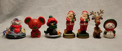 Lot of Hallmark Ornaments 1981 2000 Santa Mouse Bell Reindeer Snowman Plastic