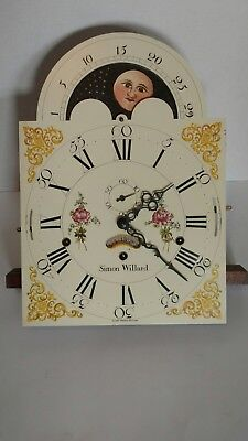 Vintage Simon Willard Grandfather Clock Face w/ Hermle Clock Movement 1171-850
