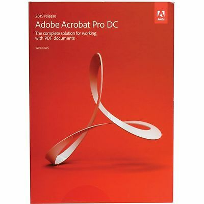 Adobe Acrobat Pro DC 2015 Release for Windows - New, Sealed. Never used!