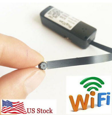 Mini wireless WIFI IP spy hidden DIY tiny network Pinhole camera DVR recorder