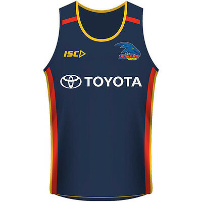 Adelaide Crows AFL 2017 ISC Players Training Singlet Sizes S-3XL! In Stock!