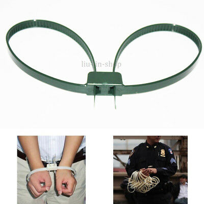 "20pcs Plastic Zip Tie 27"" Handcuffs Police Riots Emergency Restraint Cuffs Blue"