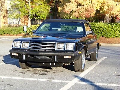1985 Dodge 600 ES 1985 Dodge 600 ES Convertible Turbo with Shelby 2.2L 4cyl fuel injected turbo