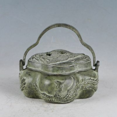 Chinese Rare Bronze Phoenix Incense Burner Made During The Xuande Period HST0018