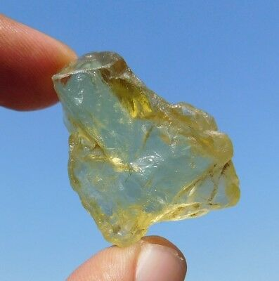 64.7 Cts Natural Graceful Rough Yellow Opal 39X24X10 Mm Cabochon Gemstone
