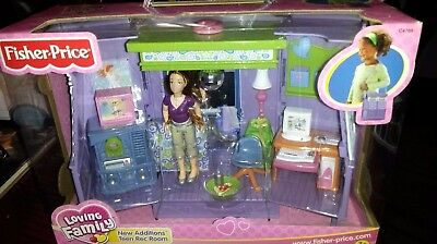 Fisher Price Loving Family Dollhouse Teen Rec Room Add On Room New Additions