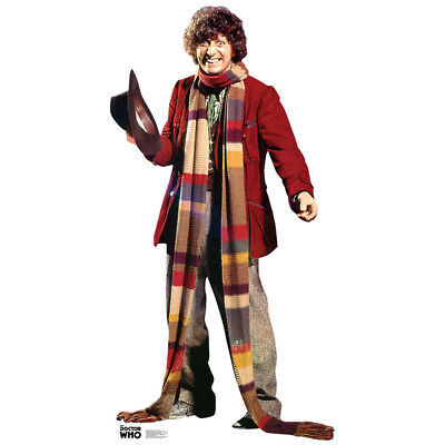 4TH DOCTOR Doctor Who CARDBOARD CUTOUT Standup Standee Poster Tom Baker FREESHIP