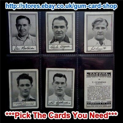 Barratt & Co - Famous Footballers 1953 - A.1 (F) *Pick The Cards You Need*
