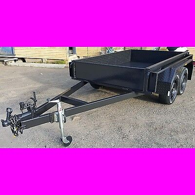 8x5 TANDEM TRAILER EXTRA HEAVY DUTY 2000KG 1 PCE FOLD FULL 2.5MM CHECKER PLATE