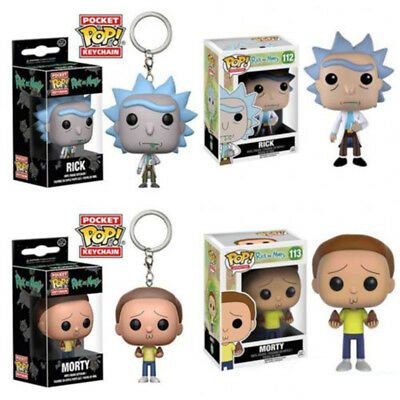 Funko Pop Rick And Morty Vinyl Action Figure Toy Doll & Keychain Gift With Box