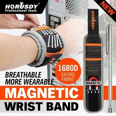 Magnetic Wristband Wrist Band Tool Belt Convenient Cuff Bracelet Nail Screw Kit